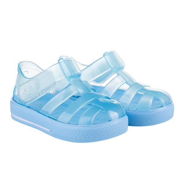 Picture of Igor Star Brillo Blue Velcro Jellies