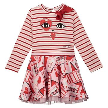 Picture of Ariana Dee Girls 'Estella' Red Face Dress