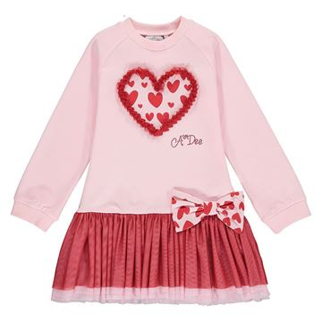 Picture of Ariana Dee Girls 'Elanor' Pink Heart Dress