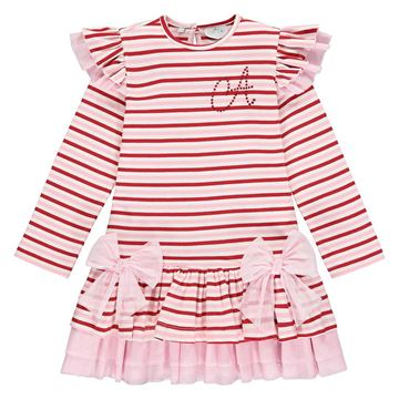Picture of Ariana Dee Girls 'Enya' Pink Stripe Dress