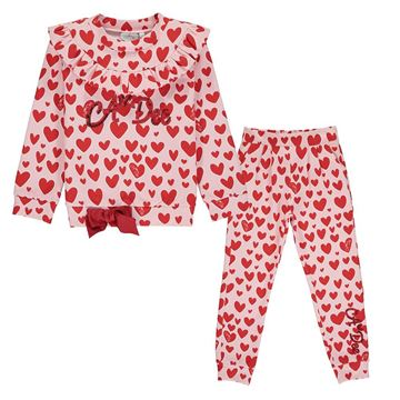 Picture of Ariana Dee Girls 'Emilia' Heart Tracksuit