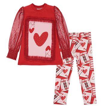 Picture of Ariana Dee Girls 'Elsie' Red Printed Leggings Set