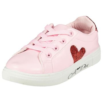 Picture of Ariana Dee Girls Pink Love Heart Trainers