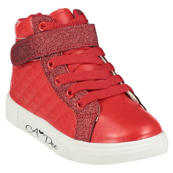 Picture of Ariana Dee Girls Red High Tops