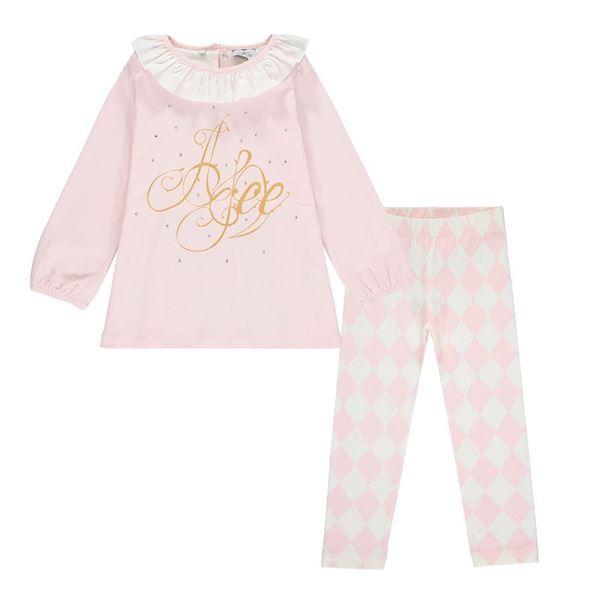 Picture of Ariana Dee Girls 'Felicia' Pink Leggings Set
