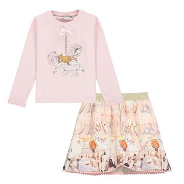 Picture of Ariana Dee Girls Pink Skirt & Top Set