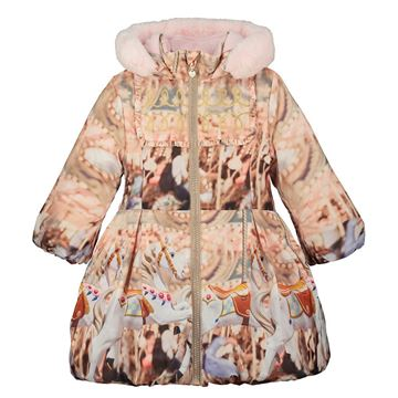 Picture of Ariana Dee Girls 'Faith' Pink Carousel Coat