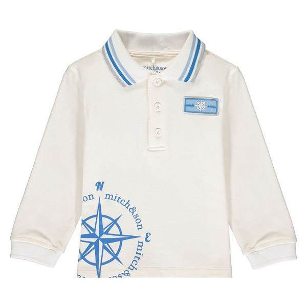 Picture of Mitch & Son Boys 'Ashton' White Polo Top