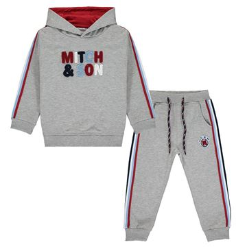 Picture of Mitch & Son Boys 'Beau' Grey Hooded Tracksuit