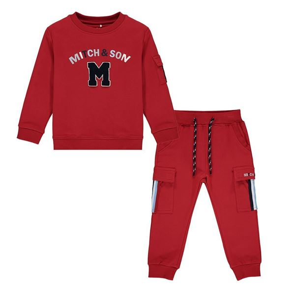 Picture of Mitch & Son Boys 'Connor' Red Tracksuit