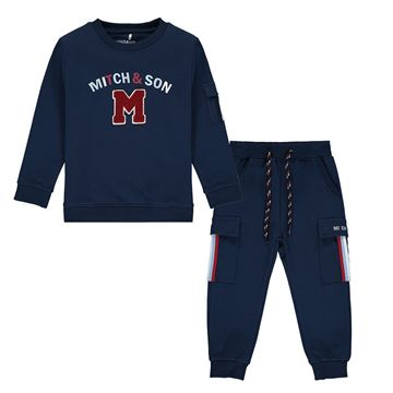 Picture of Mitch & Son Boys 'Connor' Navy Tracksuit