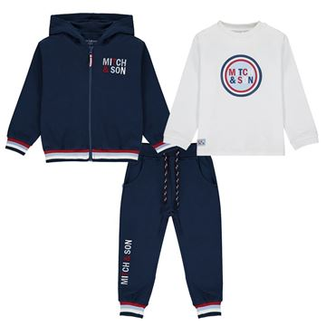 Picture of Mitch & Son Boys 3 Piece Navy Tracksuit