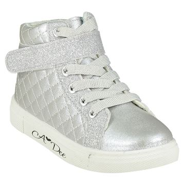 Picture of Ariana Dee Girls Silver High Tops