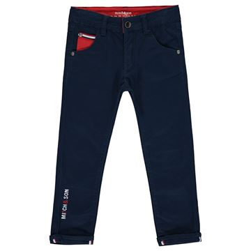 Picture of Mitch & Son Boys 'Duncan' Navy Trousers