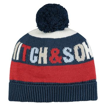 Picture of Mitch & Son Boys 'Bentley' Navy/Red Hat