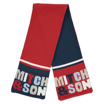 Picture of Mitch & Son Boys 'Bentley' Navy/Red Reversible Scarf