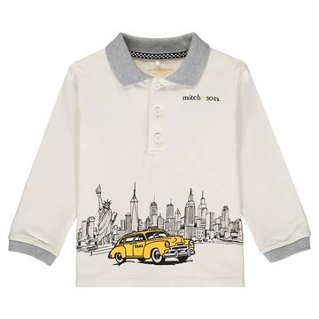 Picture of Mitch & Son Boys 'Emmett' White Polo Top