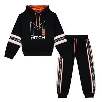 Picture of Mitch Boys 'Roman' Black Hooded Tracksuit