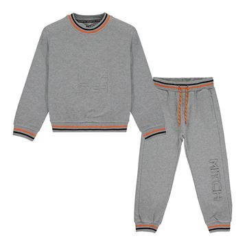 Picture of Mitch Boys 'Jose' Grey Tracksuit