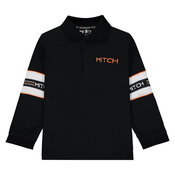 Picture of Mitch Boys 'Brayden' Black Polo Top