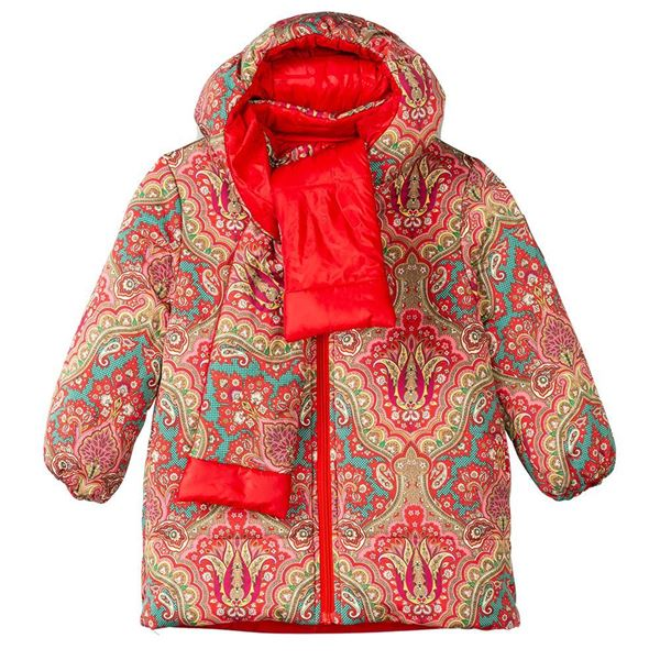 Picture of Oilily Girls 'Cover' Red Reversible Coat