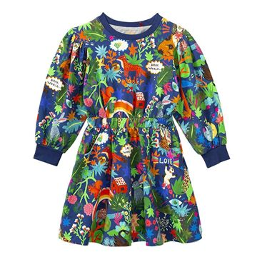 Picture of Oilily Girls 'Tair' Blue Printed Dress