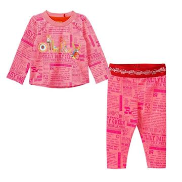 Picture of Oilily Girls Pink 2 Piece Printed Top & Leggings