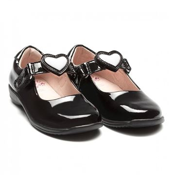 Picture of Lelli Kelly Colourissima Black Patent School Shoes
