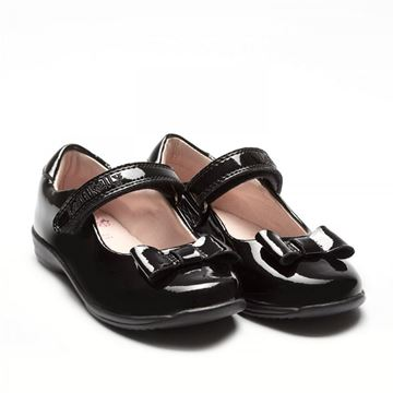 Picture of Lelli Kelly Perrie Black Patent School Shoes