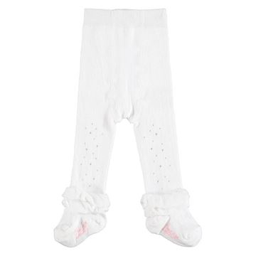 Picture of Little A 'Issie' Baby White Tights