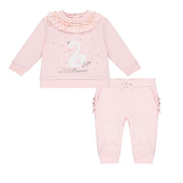 Picture of Little A 'Isobel' Baby Pink Swan Tracksuit