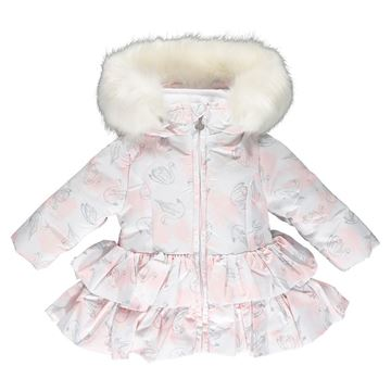 Picture of Little A 'India' Baby Rose Print Coat