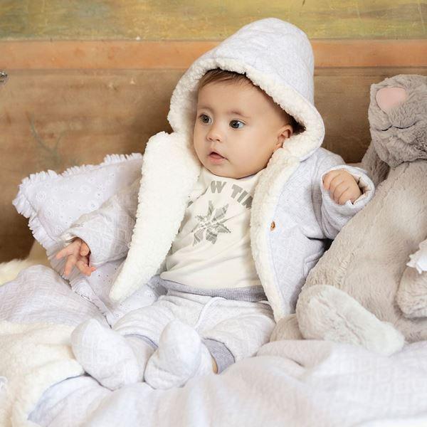 Picture of Patachou Baby Boys 3 Piece Grey & Cream Set