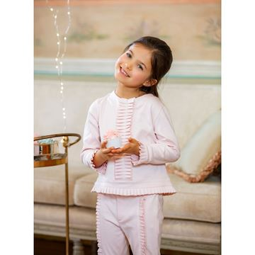 Picture of Patachou Girls 2 Piece Pink Pleated Detail Tracksuit