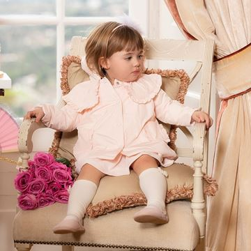 Picture of Patachou Girls Baby Pink Coat