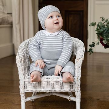 Picture of Emile Et Rose 'Tanner' Grey 2 Piece Knitted Set