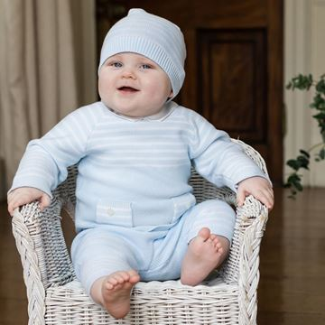 Picture of Emile Et Rose 'Tanner' Blue 2 Piece Knitted Set