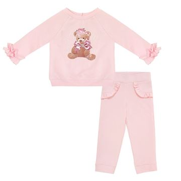 Picture of Balloon Chic Girls Pink Teddy Tracksuit