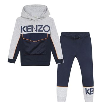Picture of Kenzo Boys Navy & Grey Logo Tracksuit