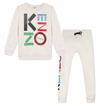 Picture of Kenzo Boys Beige Logo Tracksuit