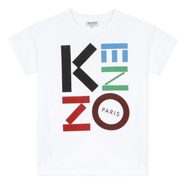 Picture of Kenzo Boys White Logo T-Shirt