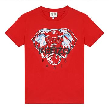 Picture of Kenzo Boys Red Tiger T-Shirt
