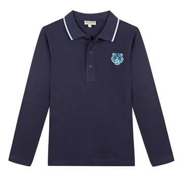 Picture of Kenzo Boys Navy Tiger Polo