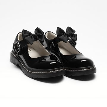 Picture of Lelli Kelly Audrey Black Patent School Shoes