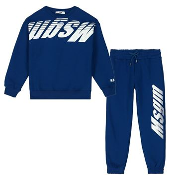 Picture of MSGM Boys Blue Tracksuit