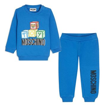 Picture of Moschino Baby Boys Blue Toy Tracksuit
