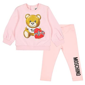 Picture of Moschino Baby Girls Pink Teddy Jumper & Leggings