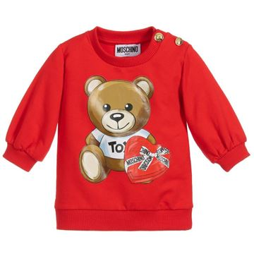 Picture of Moschino Baby Girls Red Teddy Jumper Dress