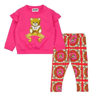 Picture of Moschino Baby Girls Teddy Jumper & Leggings Set