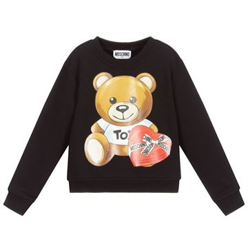 Picture of Moschino Girls Black Teddy Jumper